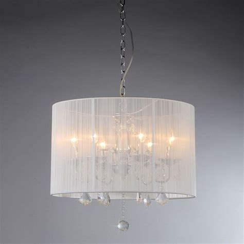 Drum Shade Pendant Light Lowes Shop Warehouse Of 18 5 In W Chrome White