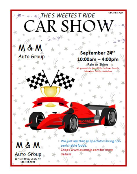 car show flyer template car show flyer template microsoft word templates