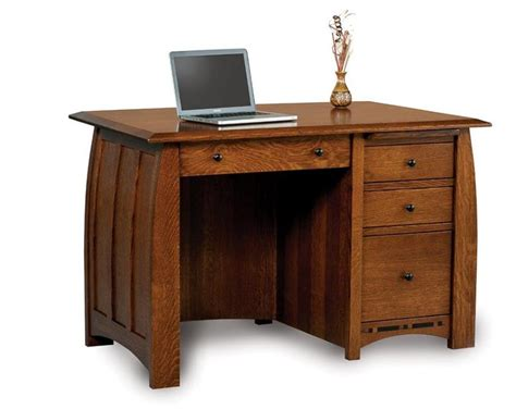 Middlebury Furniture Collection Amish Solid Wood Computer Unfinished Wood Computer Desk