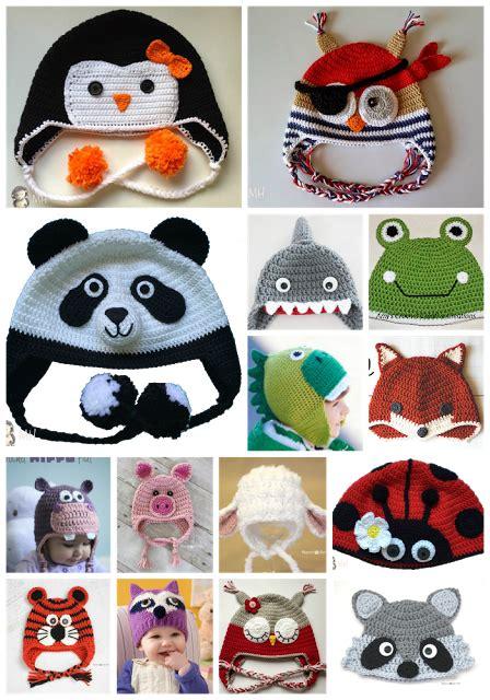 gorros tejidos en crochet para bebes de animalitos 2016 montonazos de patrones gratuitos para gorros de animalitos