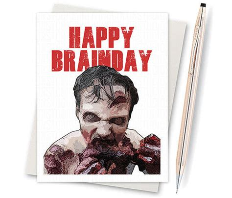 printable zombie birthday cards the walking dead card zombie birthday from