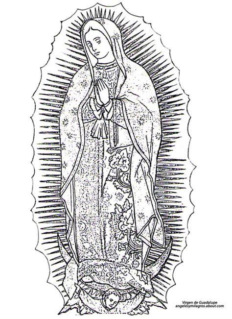 imagenes de la virgen maria para pintar virgen mar 205 a dibujos infantiles de la v 237 rgen de guadalupe para colorear