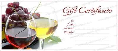 printable wine gift certificates free gift certificate templates the grid system