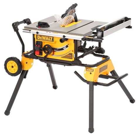 dewalt saw bench stand dewalt 15 amp 10 in job site table saw with rolling stand