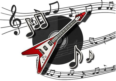 song rock free illustration guitar rock musical play