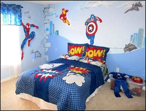 Teenage Wall Murals Uk 10 cool superhero inspired bedrooms for boys rilane