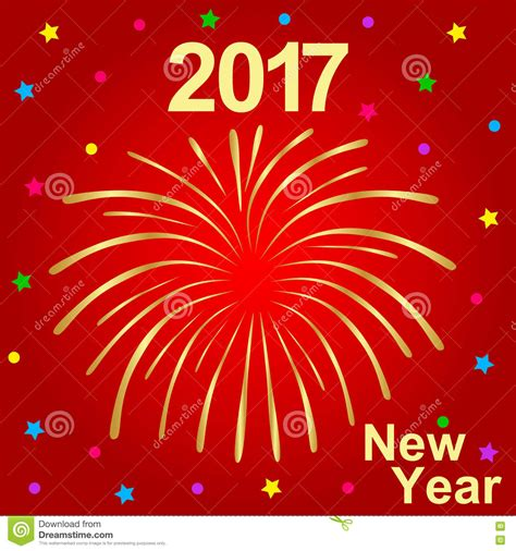 happy new year text vector happy new year 2017 text and fireworks vector