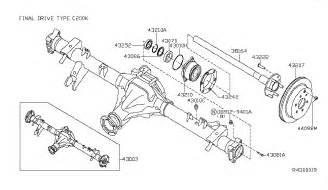 2005 Nissan Xterra Parts Rear Axle For 2005 Nissan Xterra Nissan Parts Deal