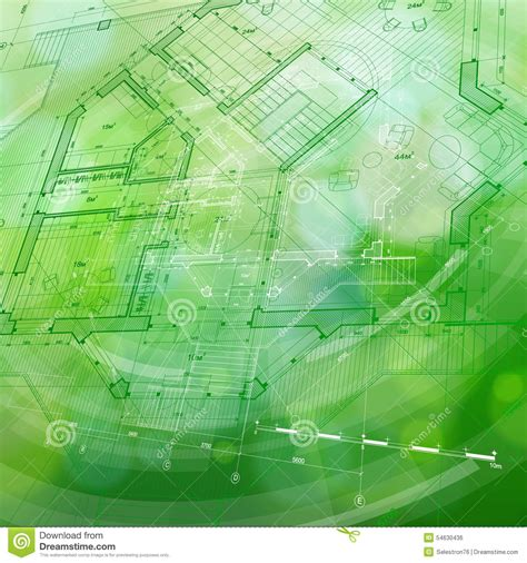 green plans blueprint house plan green technology radial background