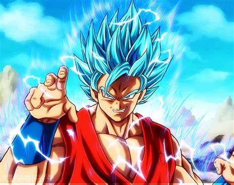 imagenes goku azul imagenes de goku fase dios descargar imagenes de goku