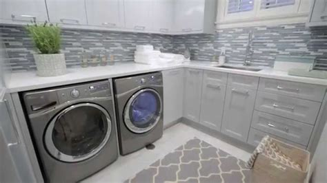 Built In Laundry Cabinets by Interior Design Small Storage Filled Blue Grey Laundry