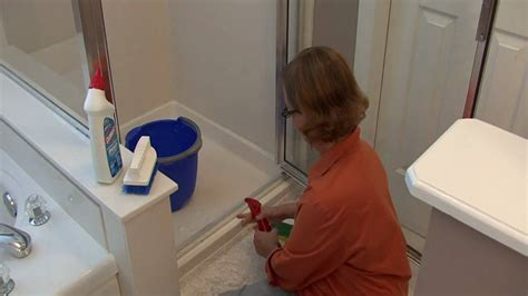 Bathroom Cleaning Tips : How to Clean Shower Door Tracks