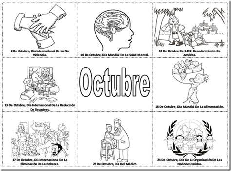 imagenes del mes de octubre para colorear pinto dibujos fechas importantes de octubre para colorear