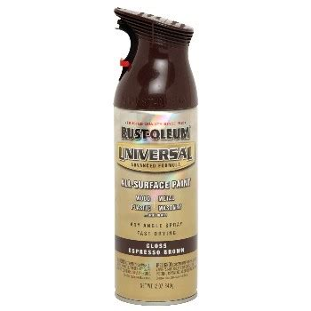 buy the rust oleum 245215 universal spray paint espresso brown 12oz hardware world
