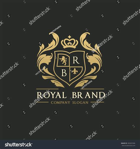 royal brand logo crown logo lion logo crest logo vector