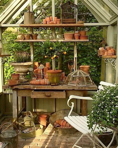 pin  gdw  greenhouse potting shed ideas