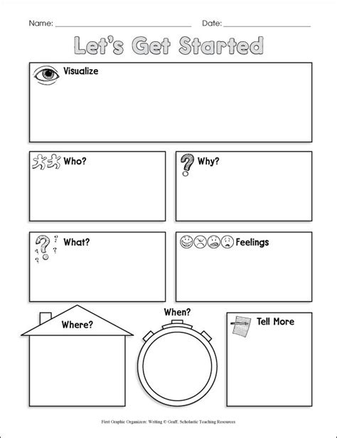 pre writing graphic organizer shining rock cfa