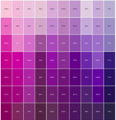 colors that match with purple logo pantone color matching