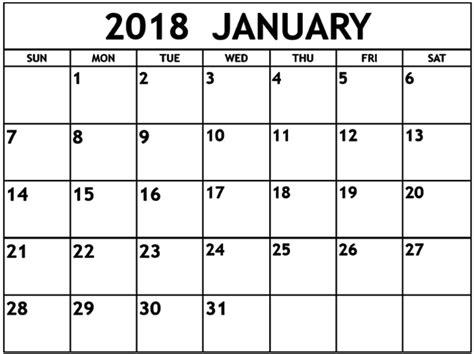 printable january 2018 calendar large blank january 2018 calendar calendar template letter