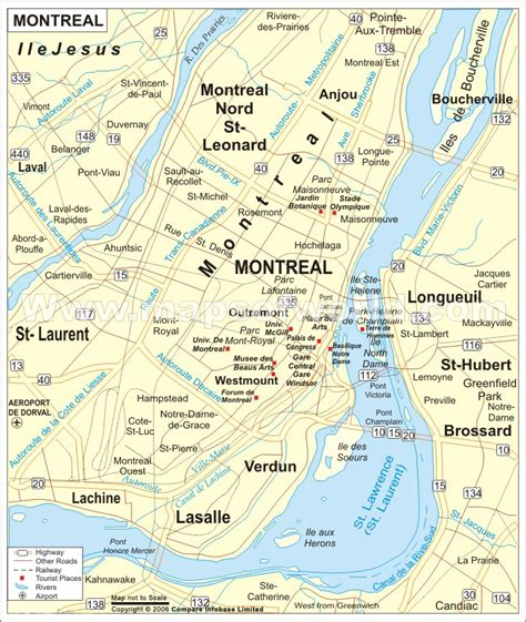 map canada montreal map of montreal canada