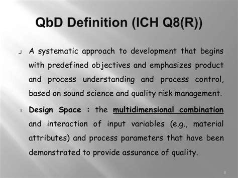 design space ich q8 definition ich guideline q8 pharmaceutical development