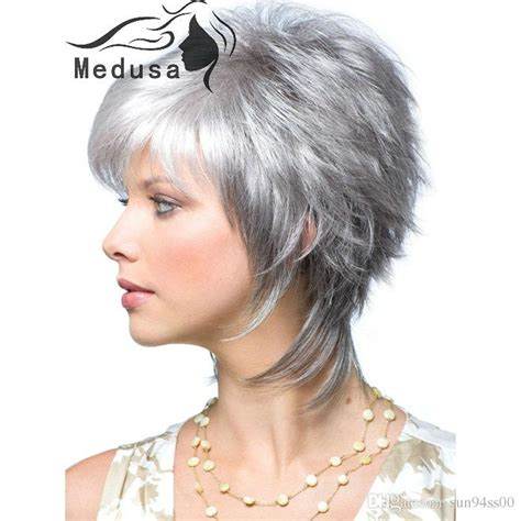 shag cuts for grey hair modern shag hairstyles synthetic pastel wigs for women