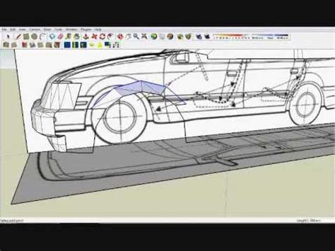 tutorial sketchup car google sketchup how to model a simple car youtube