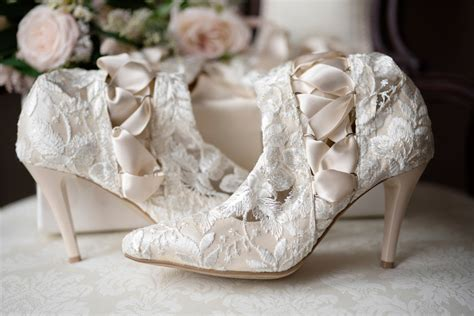classic ivory lace wedding boots and shoes house of elliot