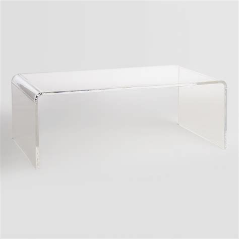 Clear Plastic Coffee Table Clear Acrylic Thad Coffee Table World Market