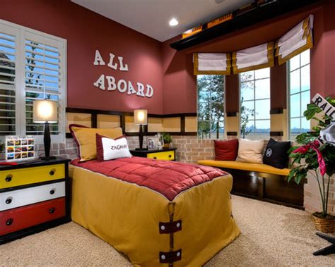 train theme room houzz