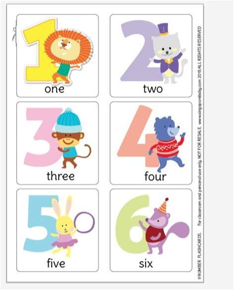 printable animal number cards free printable pictures of and flashcard on pinterest