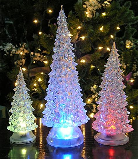 christmas tree lights amazon led lighted acrylic christmas trees holiday decoration set