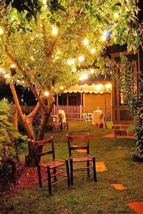 backyard lighting pinterest backyard at night with party lights in the trees