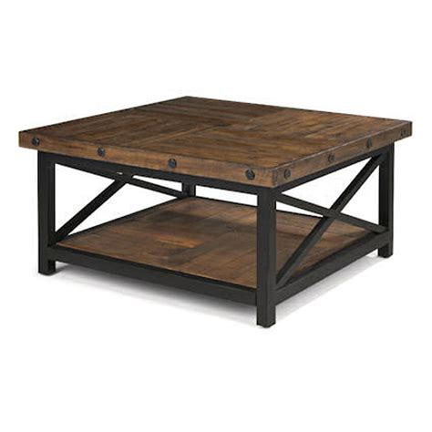 how to make a square coffee table flexsteel 6722 032 carpenter square cocktail table discount furniture at hickory park furniture
