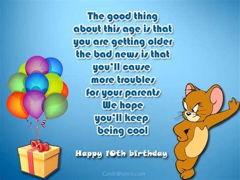 Happy Birthday Wishes 10 Year Boy Happy 10th Birthday Wishes Cards Wishes