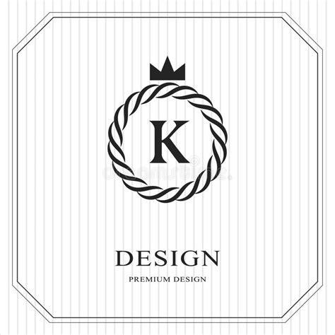 vector crown logo design abstract logo template vector abstract monogram round template linear seamless pattern