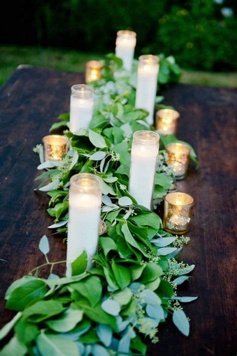 Candle Runner Centerpiece 21 Pretty Garden Wedding Ideas For 2016 Tulle