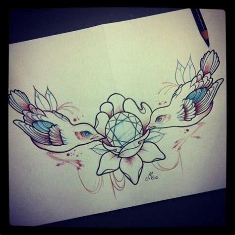 diamond tattoo we heart it dimonds tattoo image via we heart it bird birds chest