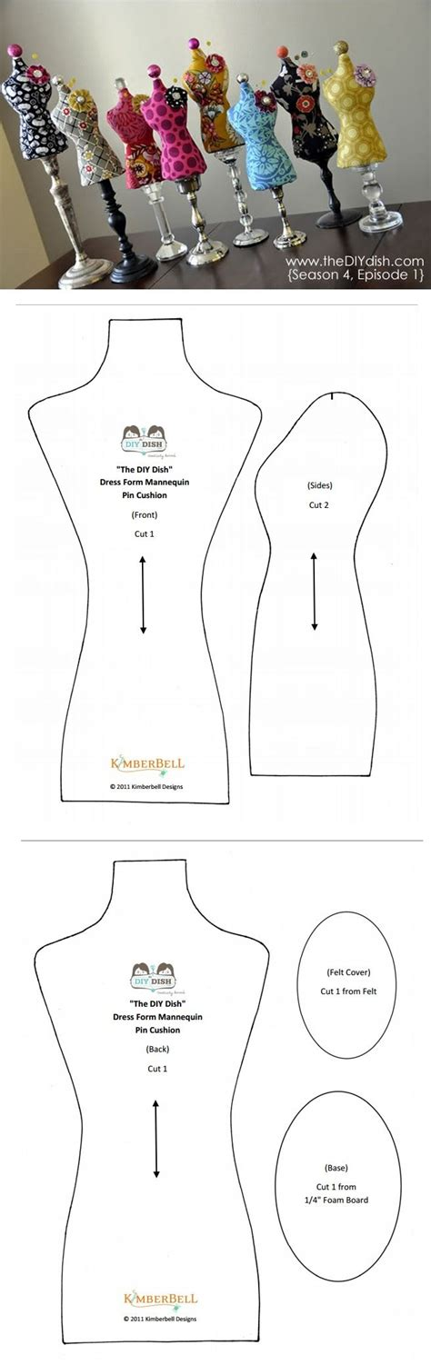 dress form template 25 best ideas about pincushion patterns on