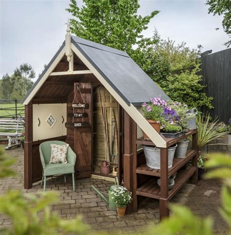 rhs cosy nook garden shed by scotts of thrapston cosy