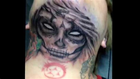 tattoo removal neck youtube sugar skull neck tattoo youtube