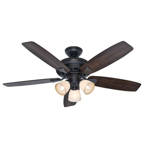 hunter duncan 52 ceiling fan hunter 52 in winslow new bronze ceiling fan with light kit