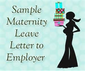 Maternity Leave Letter Template Employer by Sle Maternity Leave Letter To Employer Hr Letter Formats