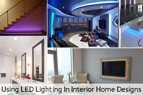 home design and lighting using led lighting in interior home designs