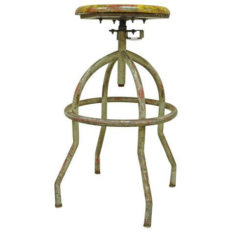 Artist Stool Adjustable by Vintage Adjustable Wood And Metal Work Stool Artist