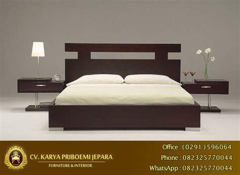 Tempat Tidur Kayu Jati Di Jakarta tempat tidur minimalis kayu jati mebel jepara minimalis