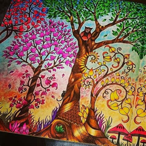 My Craft St7780 Colouring Book Enchanted Forest 14 best images about colouring book inspiration on coloring pages trees and