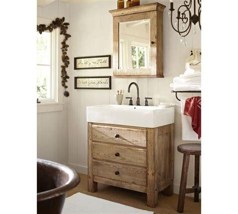 reclaimed wood medicine cabinet bathroom