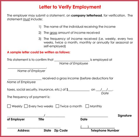 employment verification letter sle salary income verification letter 6 sles formats