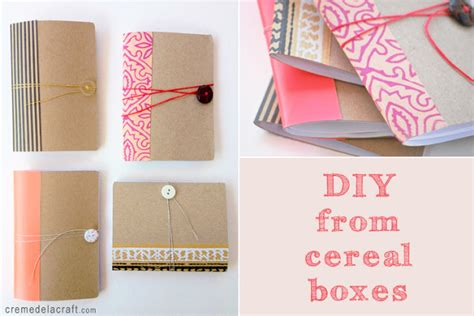 How To Make A Flower Out Of Notebook Paper - diy mini notebook from a cereal box